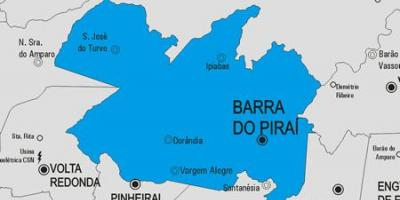Mappa di Barra do Piraí comune